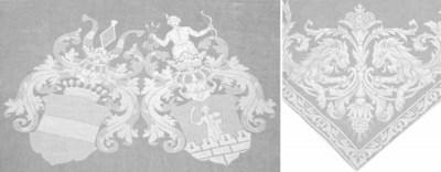 A damask linen tablelcoth