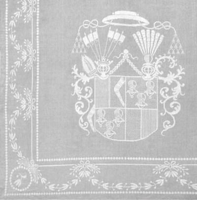 A damask linen banquet table c