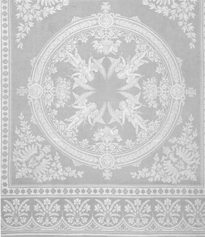 A Damask linen tablecloth wove