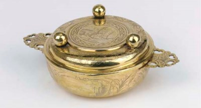 A German silver-gilt ecuelle w