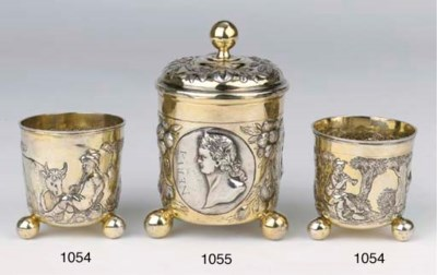 A German silver-gilt and silve
