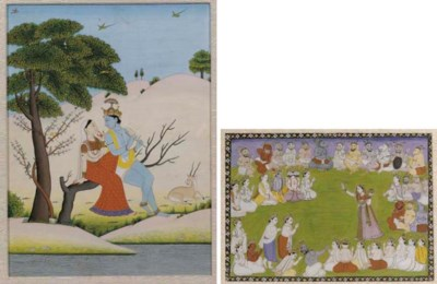 Five Indian miniatures