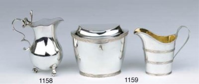A Dutch silver teacaddy and a