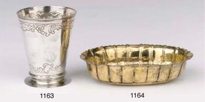 A small German silver beaker