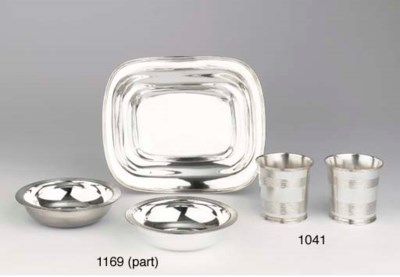 Five German silver dishes, a s