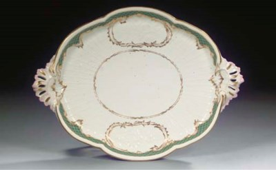 A Berlin KPM porcelain two-han