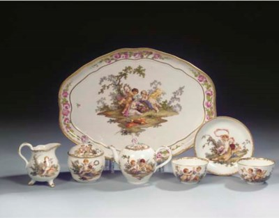 A Meissen Punktzeit porcelain