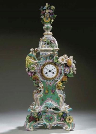 A Meissen porcelain green-grou