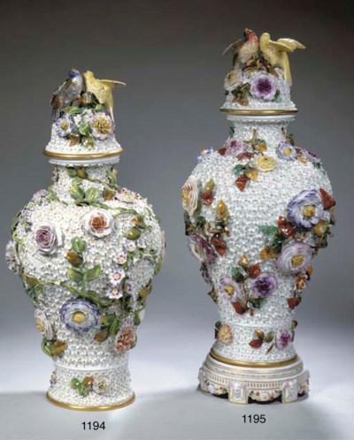A Meissen-style porcelain Schn