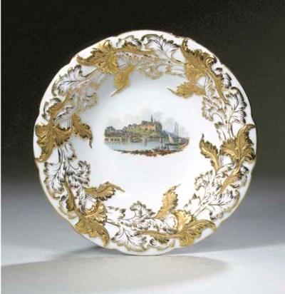 A Meissen porcelain topographi