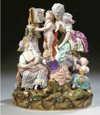 A Meissen-style porcelain alle