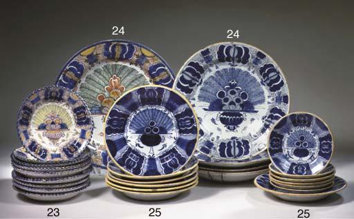 Five various Dutch Delft peaco