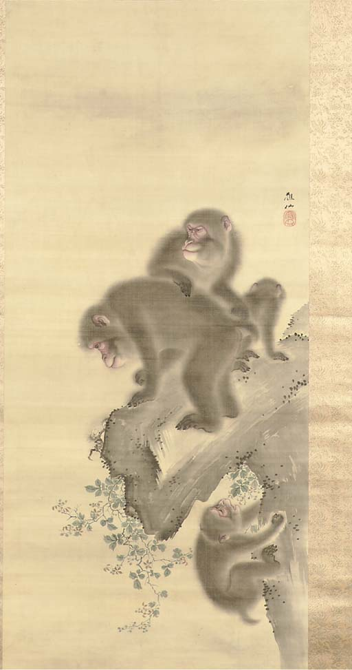 A hanging scroll