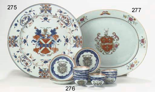 A set of ten armorial cups and