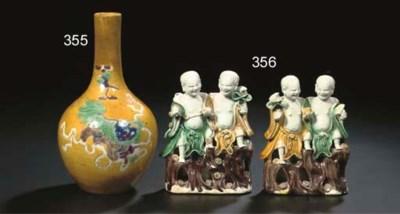 A famille verte bottle vase