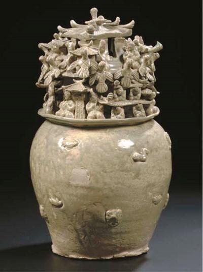 A Yueyao funerary jar