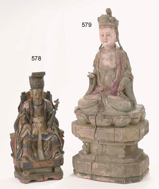 A wood figure of Guanyin