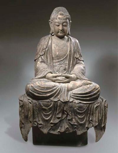 A wood figure of Buddha Sakyam