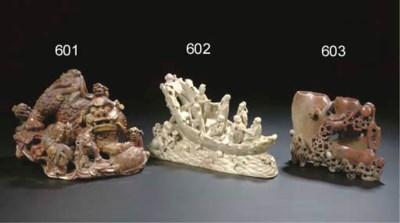 A soapstone model of boat