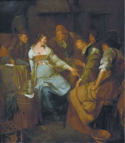 Circle of Jacob van Ochtervelt