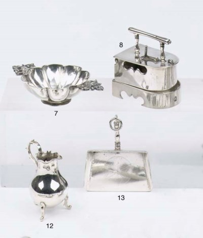 A Dutch silver miniature dust-