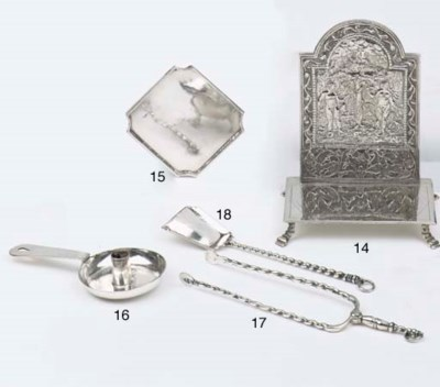 A Dutch silver miniature fire-