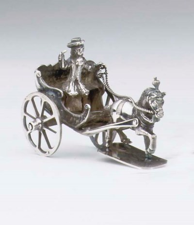 A Dutch silver miniature horse