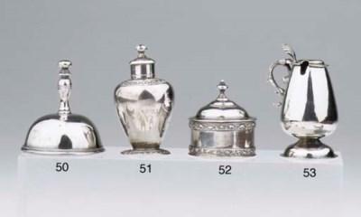 A Dutch silver miniature tea c