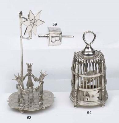 A Dutch silver miniature bird