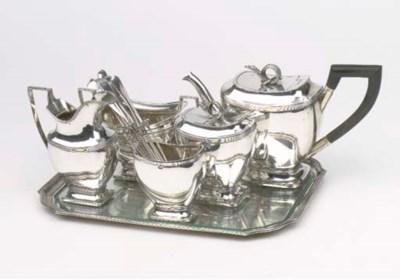 A Dutch silver composed five-p