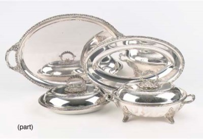(7)  A collection of silver-pl