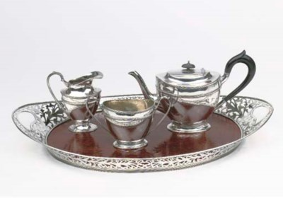 A Dutch silver four-piece comp