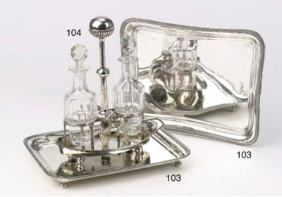 Two various oblong silver salv