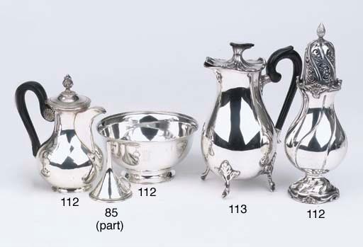 A Dutch silver coffee pot