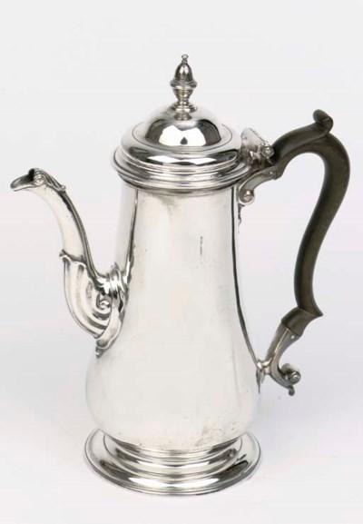 An English silver coffee pot