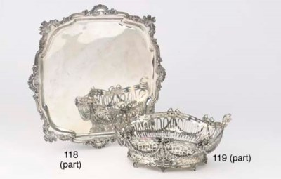 A Dutch silver breadbasket, fo