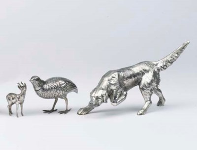 Three various silver and plate