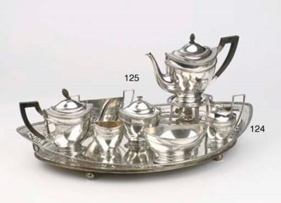 (8) A Dutch silver teaservice