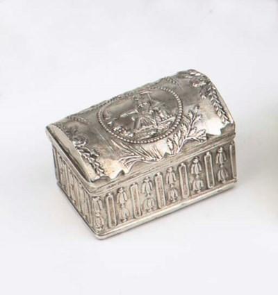 A Dutch silver box