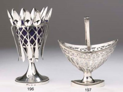 A Dutch silver sugarvase with