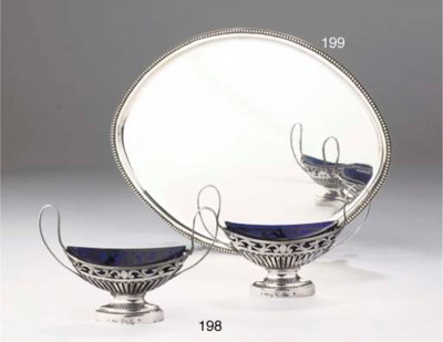 A pair of Dutch silver salt-ce
