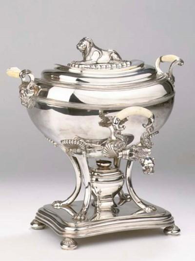 A fine Dutch silver hot-water