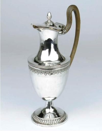 A large German silver ewer