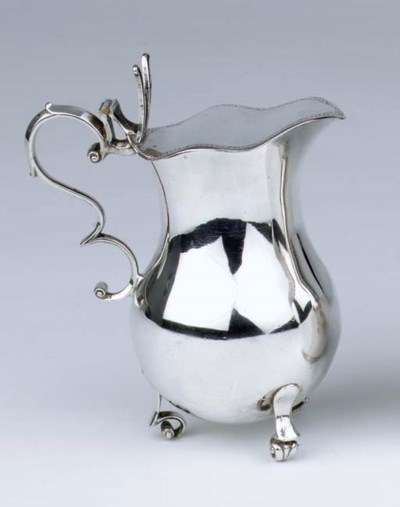 A German silver milk jug