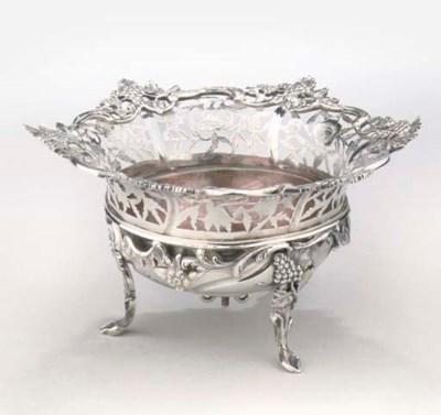 A Dutch silver brazier