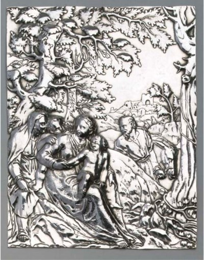 A large Dutch silver plaquette