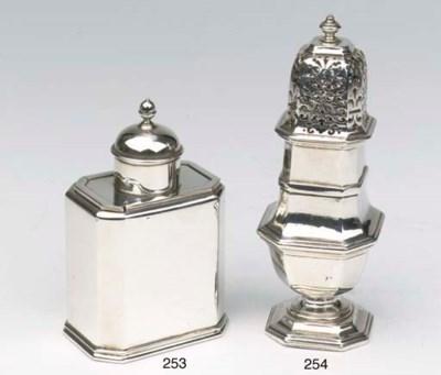 A Dutch silver sugar castor