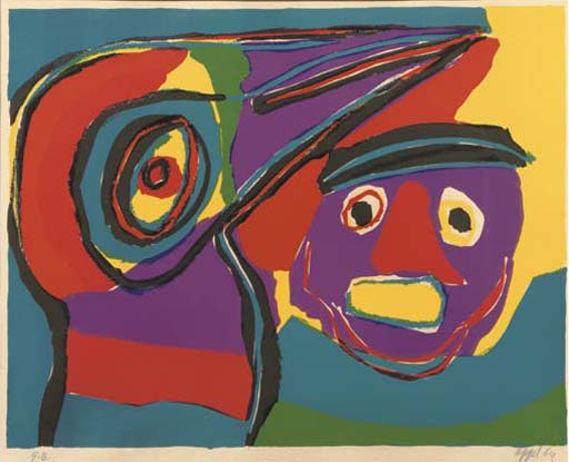 (2)  Karel Appel (Dutch, 1921-