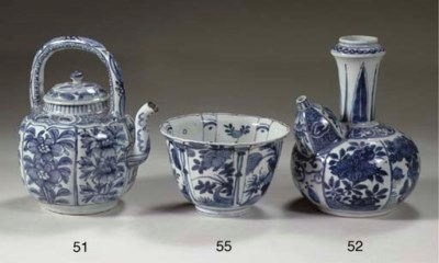 A late Ming blue and white win