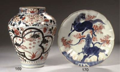 Two Japanese Imari dishes